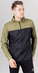 Ветро и водозащитная куртка с капюшоном Nordski Rain Olive/Black мужская