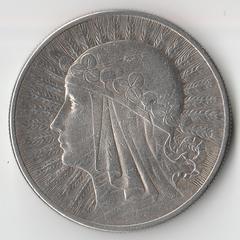 Монета 10 злотых 1932 года
