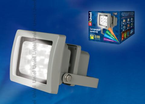 ULF-S03-16W/NW IP65 110-240В Прожектор светодиодный. Корпус серый. Цвет свечения белый. Степень защиты IP65. Картонная упаковка