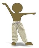 Брюки для прогулки - Демонстрационный образец. Одежда для кукол, пупсов и мягких игрушек.