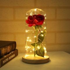 Роза в колбе с подсветкой (красная)