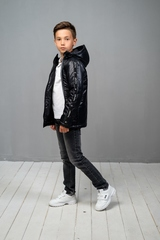 Куртка-анорак для мальчика черный