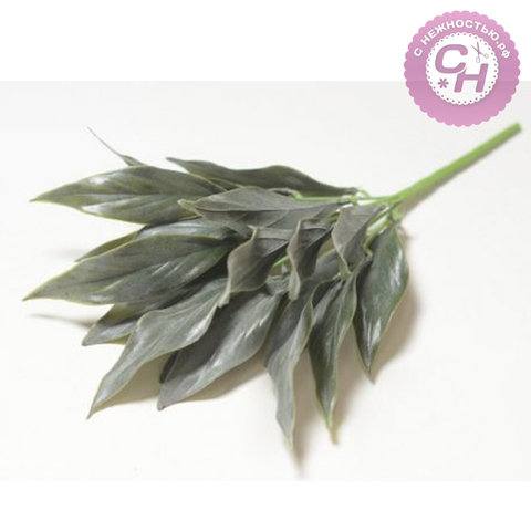 Искусственная зелень  - букет лавра, 15 листов, 5 веток, букет 35 см.