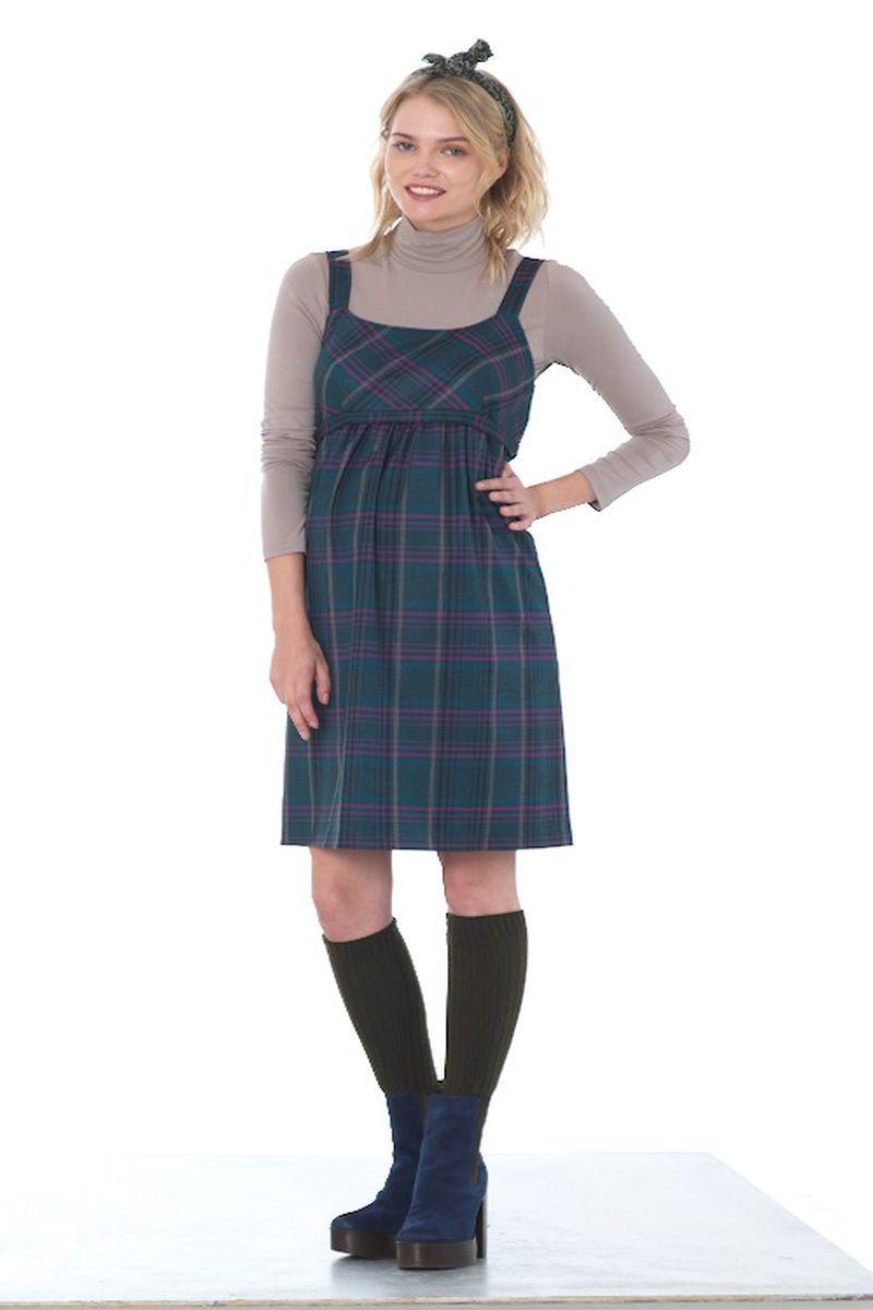 Платье для беременных 07854 зеленый