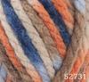 Пряжа Himalaya COMBO 52731 (Оранж,беж,латте,голубой,синий)