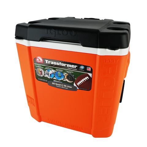Изотермический контейнер (термобокс) Igloo Transformer 60 Roller (56 л.), оранжевый