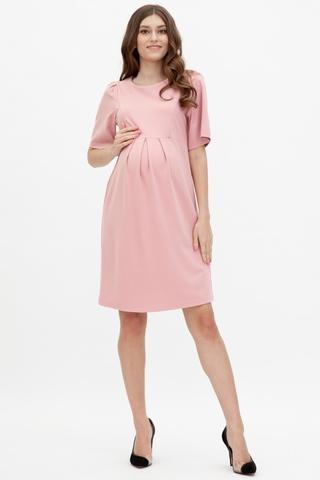 Платье для беременных и кормящих 11586 пудра