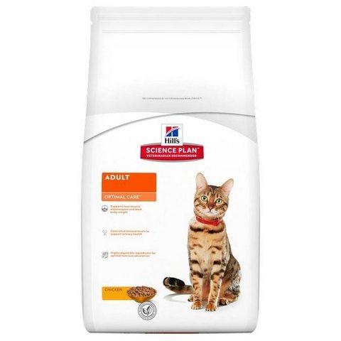 HILL'S Science Plan Сухой корм для взрослых кошек c курицей Adult Optimal Care Chicken