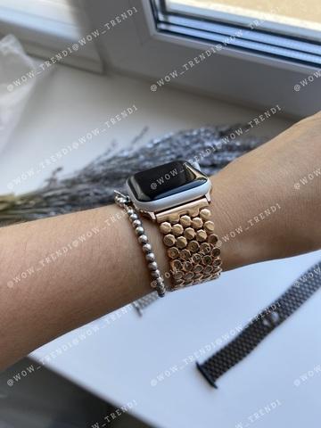 Ремешок Apple watch 42mm Honeycombs metall /gold/