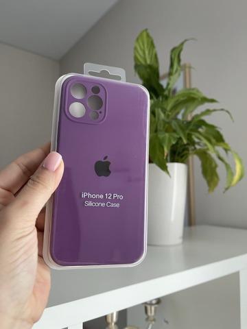 iPhone 12 Pro Silicone Case Full Camera /purple/