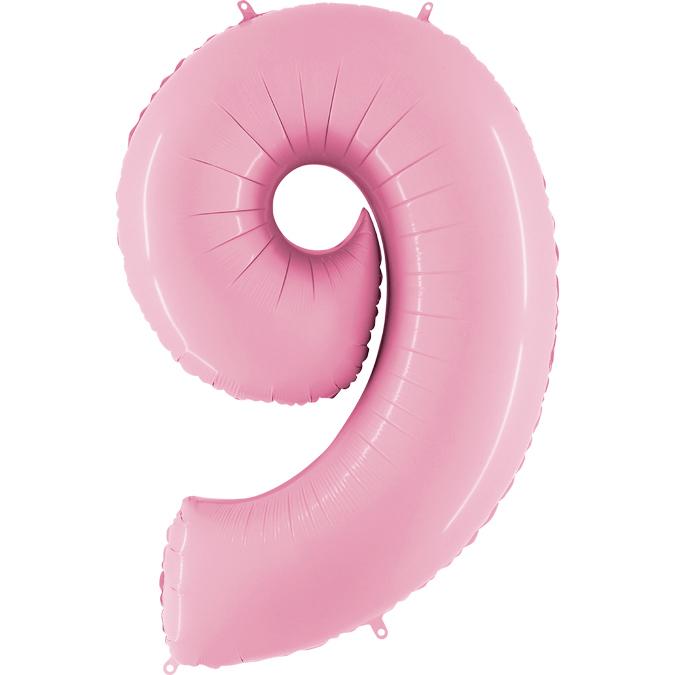 Розовая цифра 9
