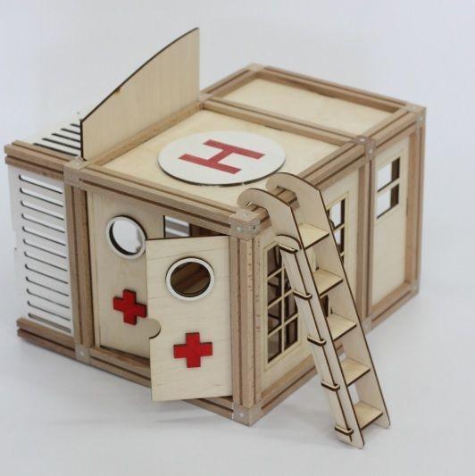 Woodjo Hospital 61 деталь