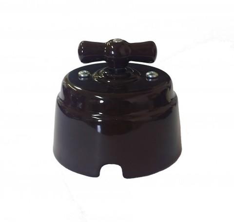 Выключатель керамический 1-2 клавишный (шоколад)