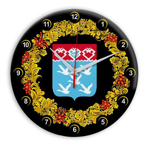 Часы в стиле Хохлома сувенирные Чебоксары 03