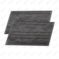 Маска одноразовая 3-х слойная, 50 штук, черные