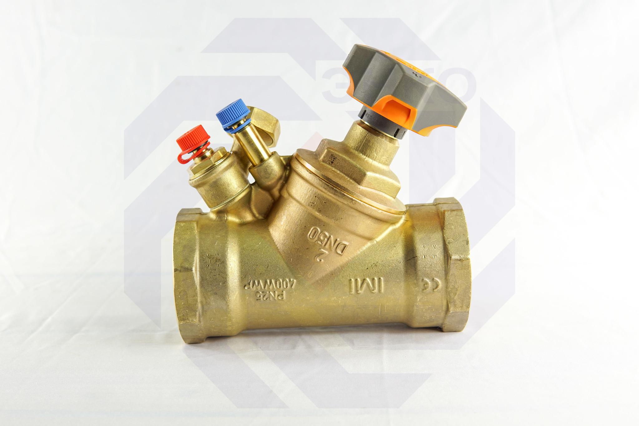 Клапан балансировочный IMI STAD с дренажем DN 50