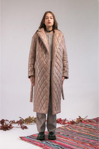 Пальто утеплённое «Ромбы»