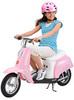 Электромотоцикл для девочек Razor Pocket Mod Bella розовый
