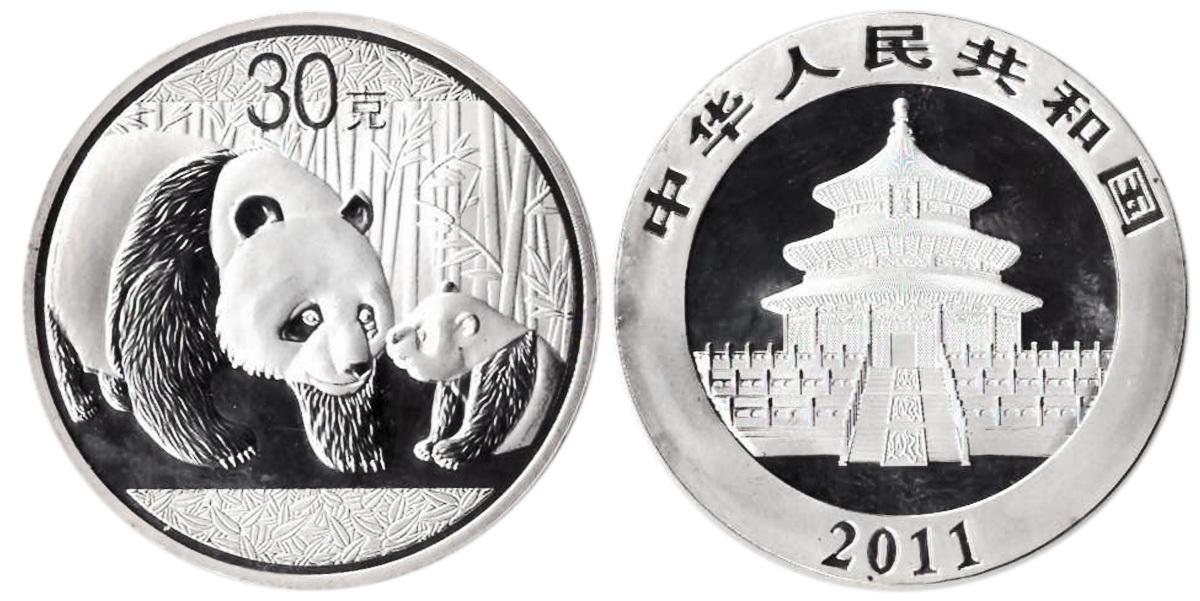 Жетон Китайская панда. Китай. 2011 год. PROOF
