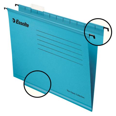 Подвесная папка Esselte Classic А4 до 250 листов синяя (25 штук в упаковке)