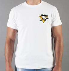 Футболка с принтом НХЛ Питтсбург Пингвинз (NHL Pittsburgh Penguins) белая 0011