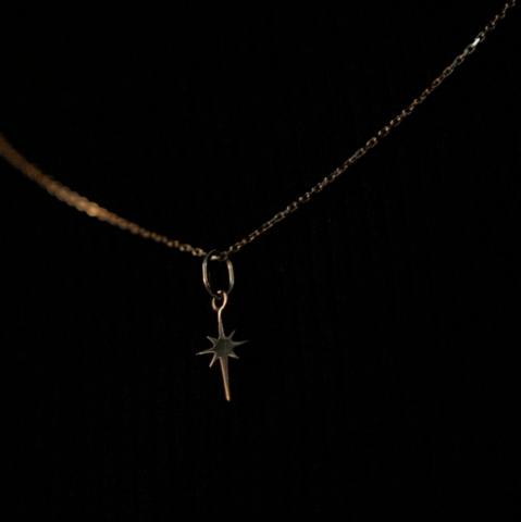 Подвеска SIRIUS на цепочке 40 см (белое золото)
