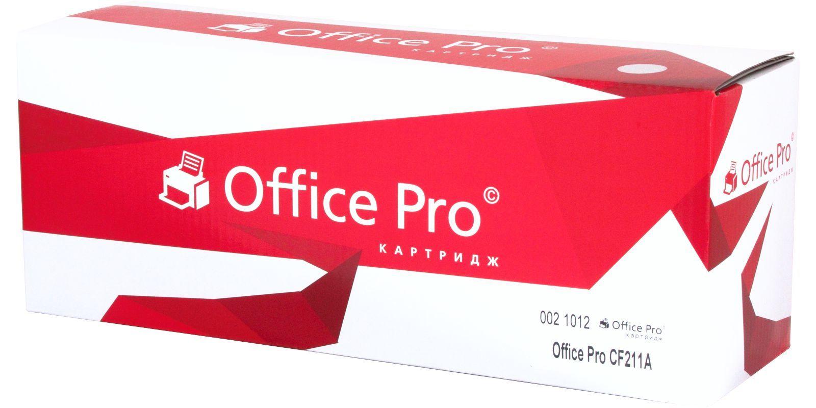 Картридж лазерный цветной Office Pro© 131A CF211A голубой (cyan), до 1800 стр.