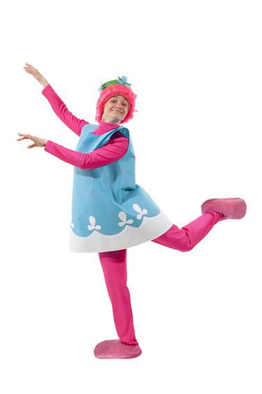 Карнавальный костюм  взрослый Тролль Розочка