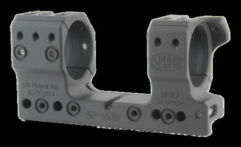 Тактический кронштейн SPUHR D34мм на Picatinny для S&Bender 5-20 PM II Ultra Short, H34мм,наклон 6MIL/20.6MOA (SP-4636)