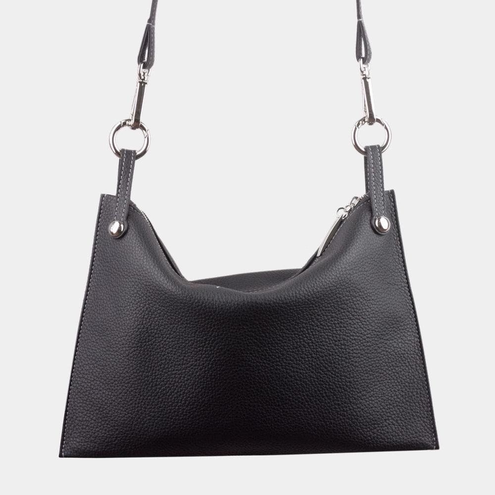 Женская сумка Suzanne Easy из натуральной кожи теленка, цвета черный мат