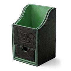 Dragon Shield - Чёрно-зелёная коробочка Nest+ с отделением для кубиков (100 карт)