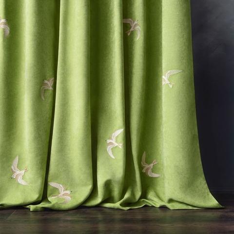 Комплект штор с подхватами Либретто зеленый