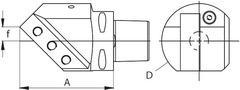 Державки eco диагональный 45°, правый 25 мм