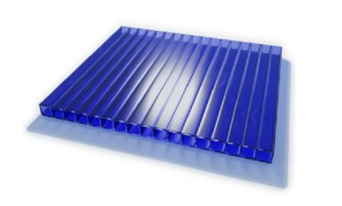 Поликарбонат сотовый 6000*2100мм (4мм) Синий