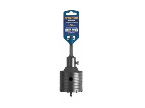 Коронка твердосплавная ПРАКТИКА SDS- Plus ударная 68 мм (1шт.) клипса (035-172)