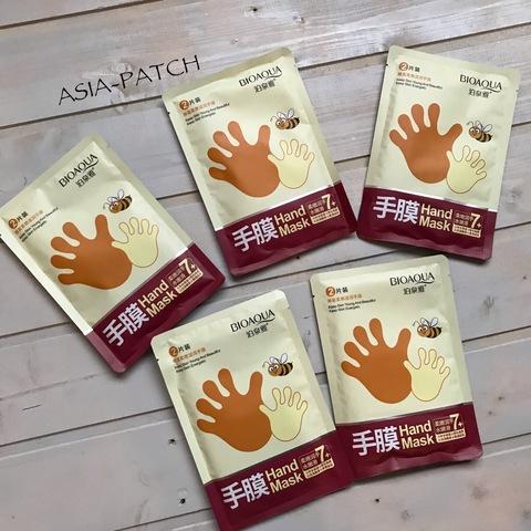 Маска-перчатки для рук медовая  BioAqua Honey, 35 гр