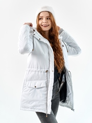 Женская парка еврозима белый