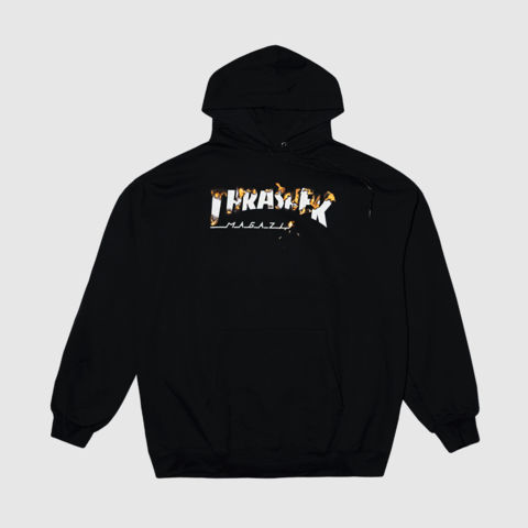 Толстовка Thrasher intro burner hood black