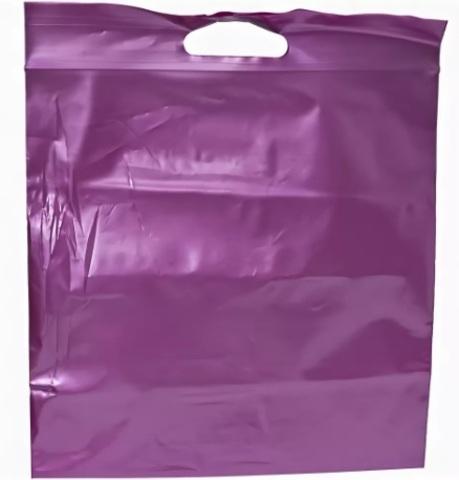 Пакеты Зип лок с вырубной ручкой 20 х 25 - (100) фиолетовый металлик