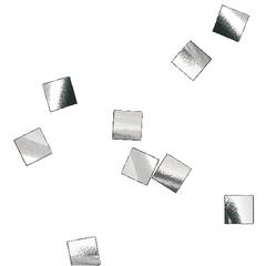 Конфетти металлизированное, Квадрат, Серебро, 6*6мм, / 100г. /