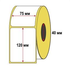 Набор 10 рулонов Термоэтикетка для OZON 75x120 мм ЭКО (1 рулон = 300 шт) втулка 40 мм