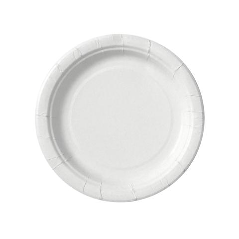 Тарелка из ламинированной бумаги д 180 мм, 50шт/уп