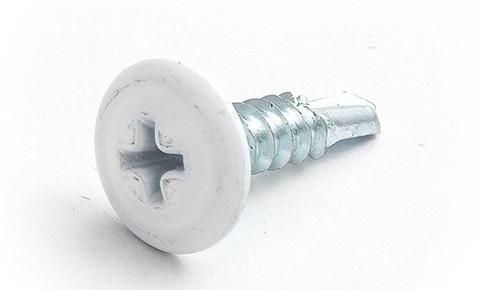 Саморез с прессшайбой со сверлом 4,2х16 (RAL9003(Сигнально белый))