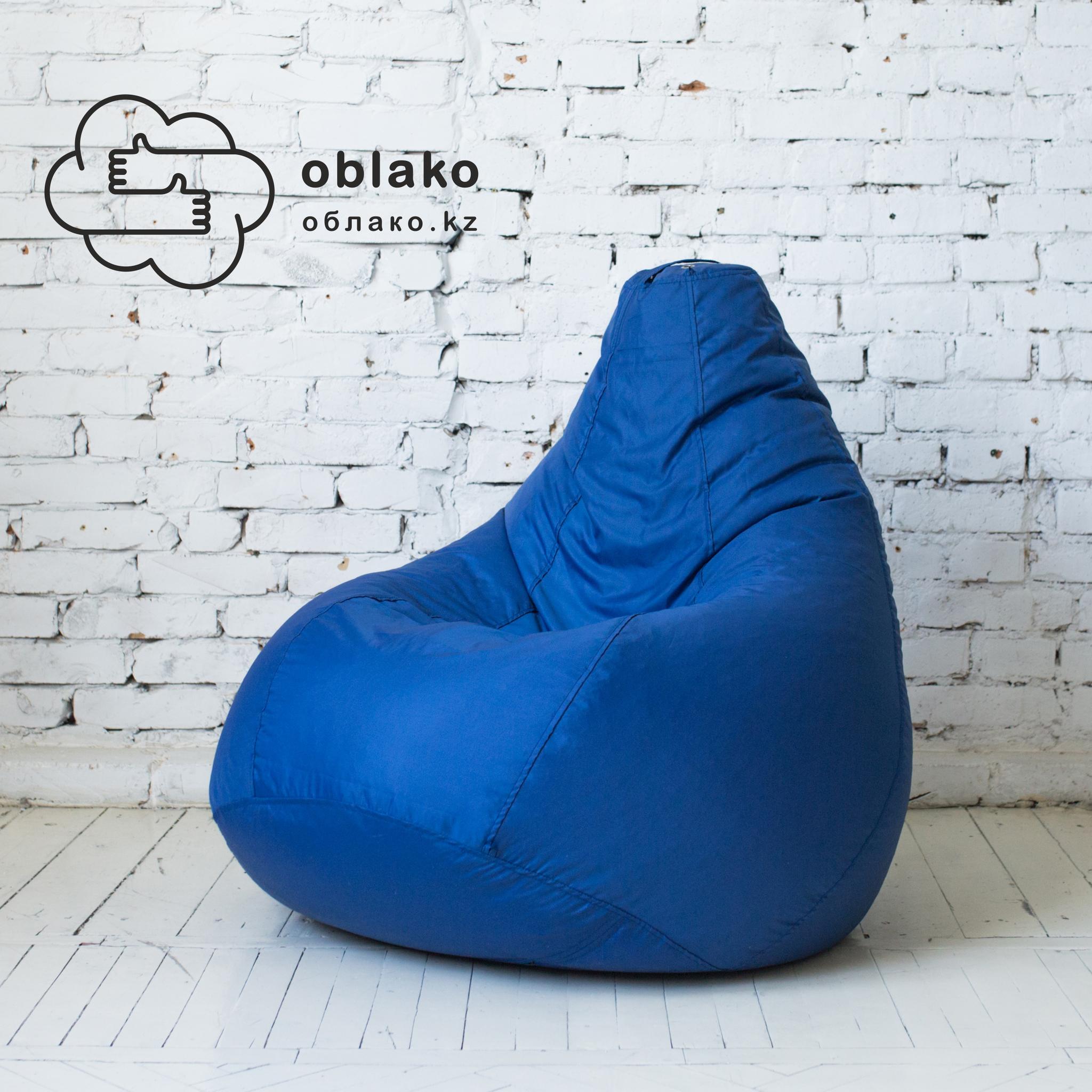 Груша М плащёвка, несъёмный чехол (синяя)