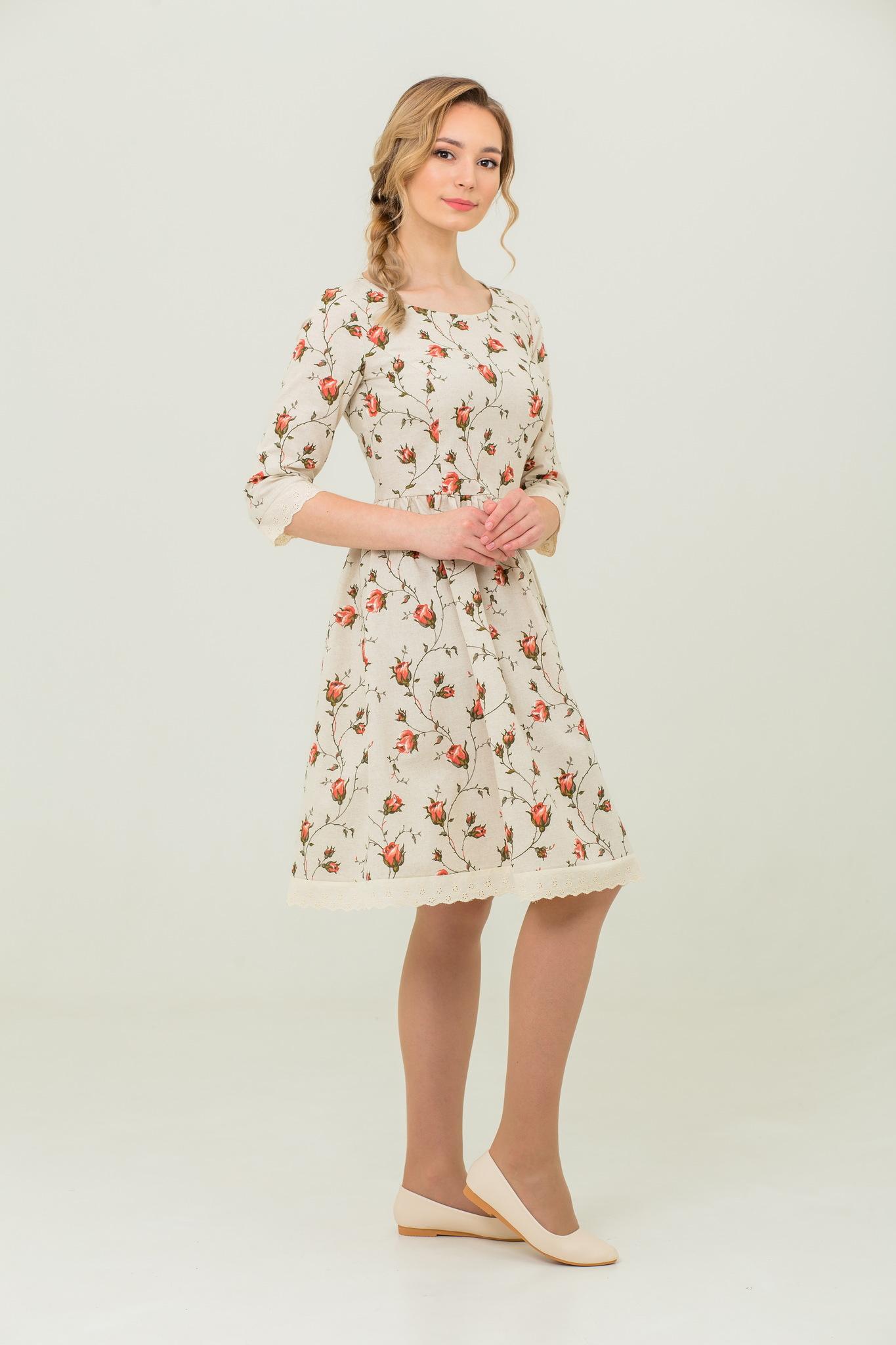 Платье из льна и хлопка Мрия купить