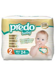 Predo. Подгузники Baby Экономичная пачка № 2 (3-6 кг Mini), 24 шт. вид 1