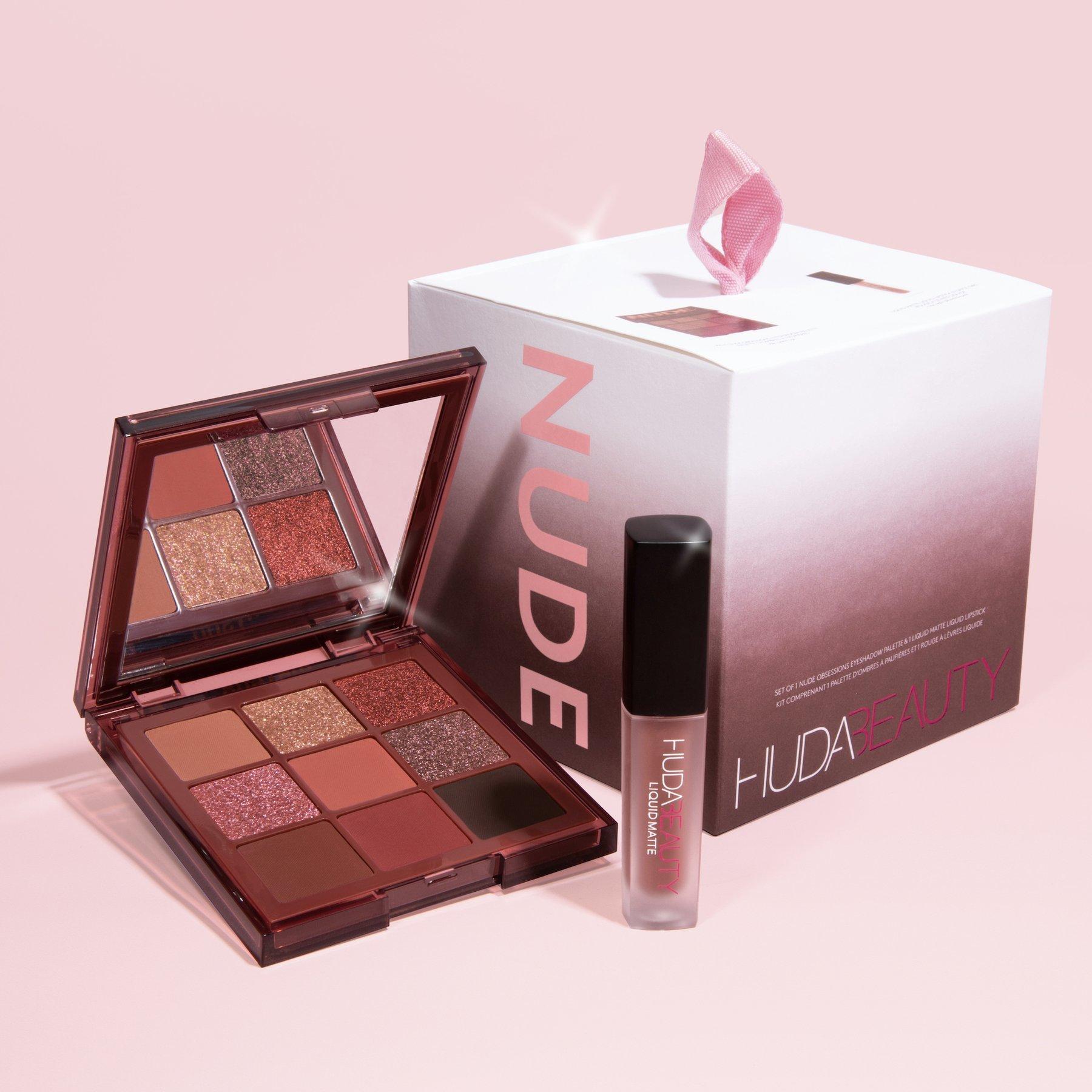 Huda Beauty Mini Nude Obsession + Mini Liquid Matte