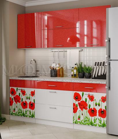 Кухня Маки ( 1,8 м ) красные