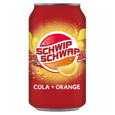 Газированный напиток Pepsi Schwip Schwap Cola + Orange со вкусом колы и апельсина 330 мл