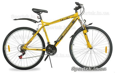 Жовто-сіро-чорний гірський велосипед для чоловіків і жінок Discovery Trek 2016